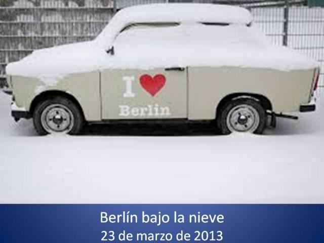 NIEVE BERLIN BAJO LA NIEVE - 23 DE MARZO DE 2013
