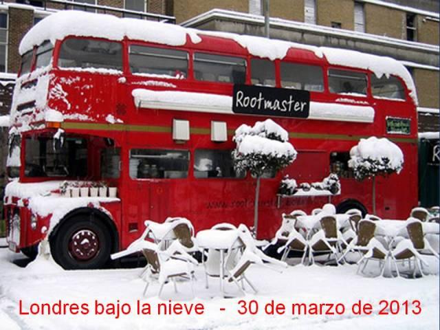 NIEVE LONDRES BAJO LA NIEVE - 30 DE MARZO DE 2013