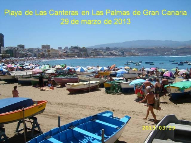 PLAYA DE LAS CANTERAS EN LAS PALMAS DE GRAN CANARIA  - 29 DE MARZO DE 2013