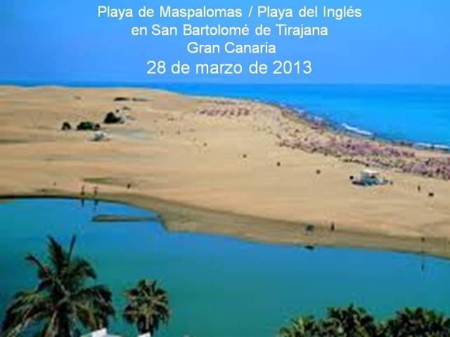 PLAYAS DE MASPALOMAS - INGLÉS EN GRAN CANARIA - 28 DE MARZO DE 2013