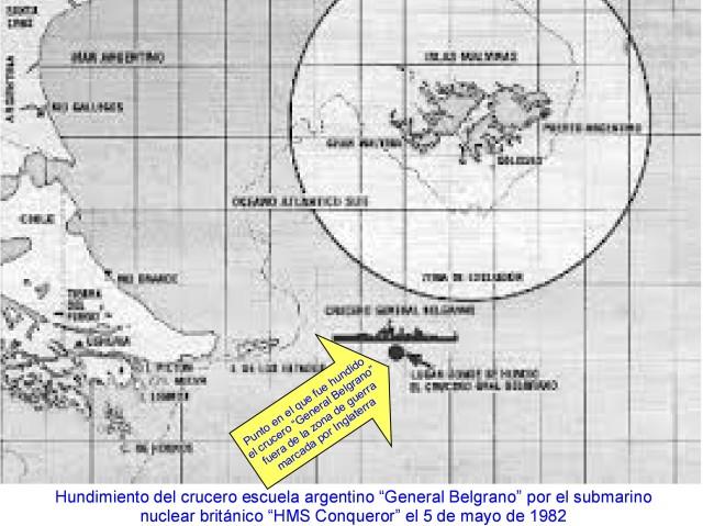 ¡  hundimiento del crucero general belgrano
