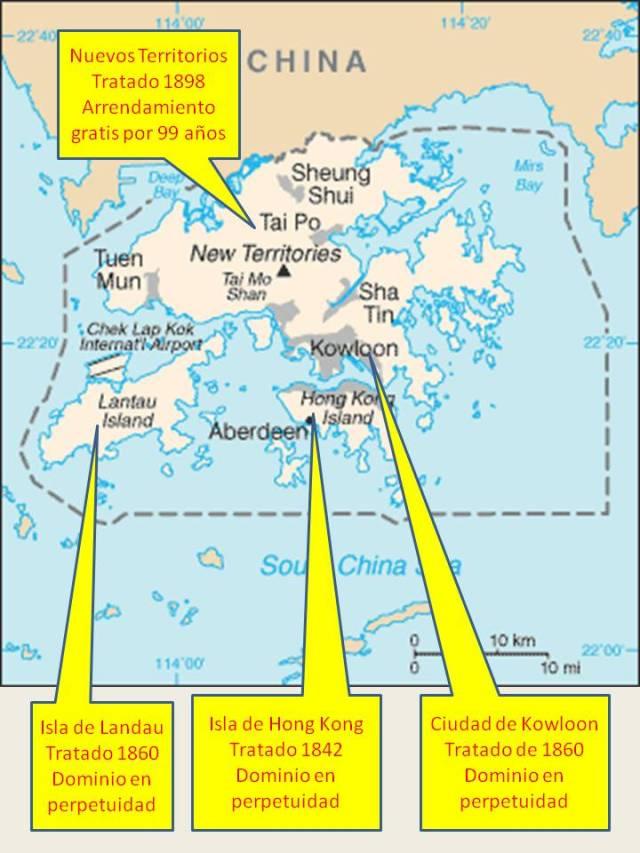 ¡  ISLA DE HONG KONG - ISLA DE LANDAU - KOWLOON - NUEVOS TERRITORIOS