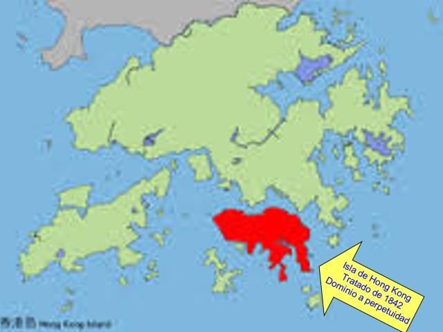 ¡  ISLA DE HONG KONG - TRATADO 1842 - A PERPETUIDAD