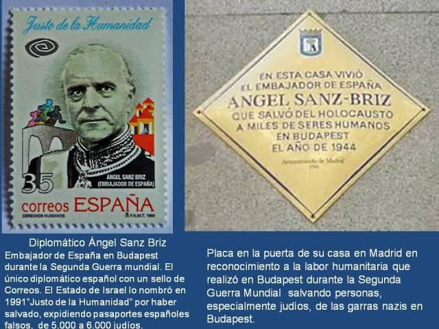 ÁNGEL SANZ BRIZ embajador de España en Budapes durante la guerra