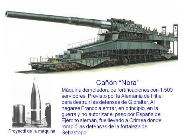 CAÑÓN ''NORA'' ROMPEDOR DE DEFENSAS FORTIFICADAS
