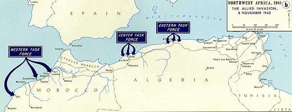 desembarco aliado en marruecos y argelia el 8-11-1942