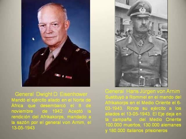 eisenhower y von armin -vencedor y vencido en el Norte de Africa-