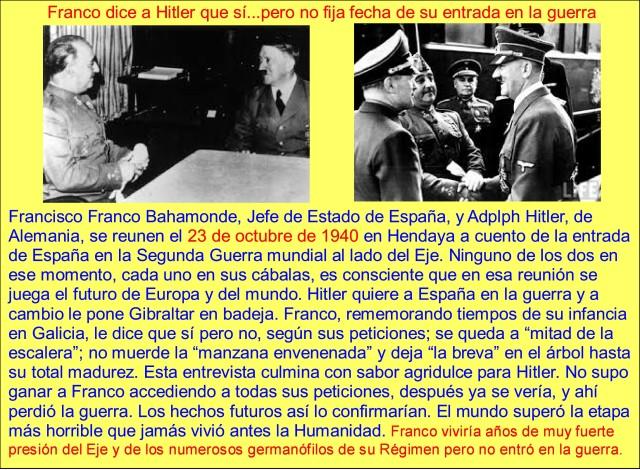 franco Y HITLER SE REUNEN EN HENDAYA