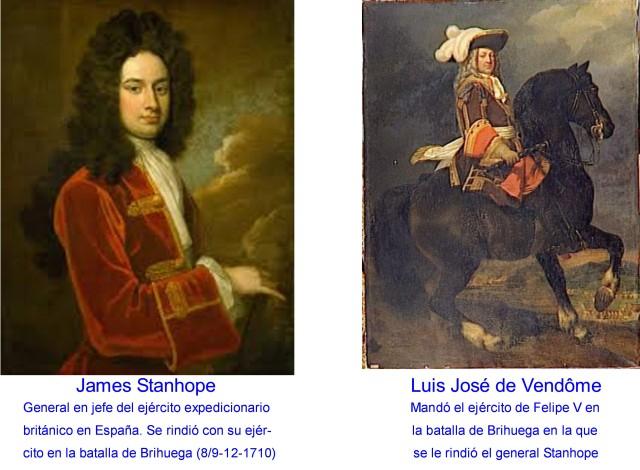JAMES STANHOPE Y LUIS JOSÉ DE VENDÔME