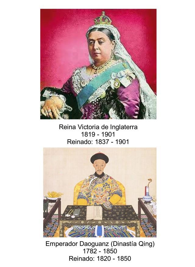 REINA VICTORIA Y EMPERADOR DAOGUANZ