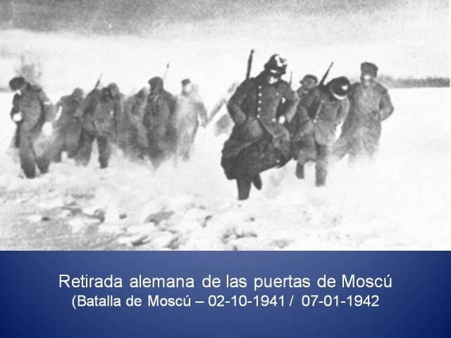 RETIRADA ALEMANA DE LA BATALLA DE MOSCU