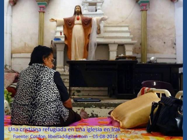 CRISTIANA REFUGIADA EN UNA IGLESIA EN IRAK